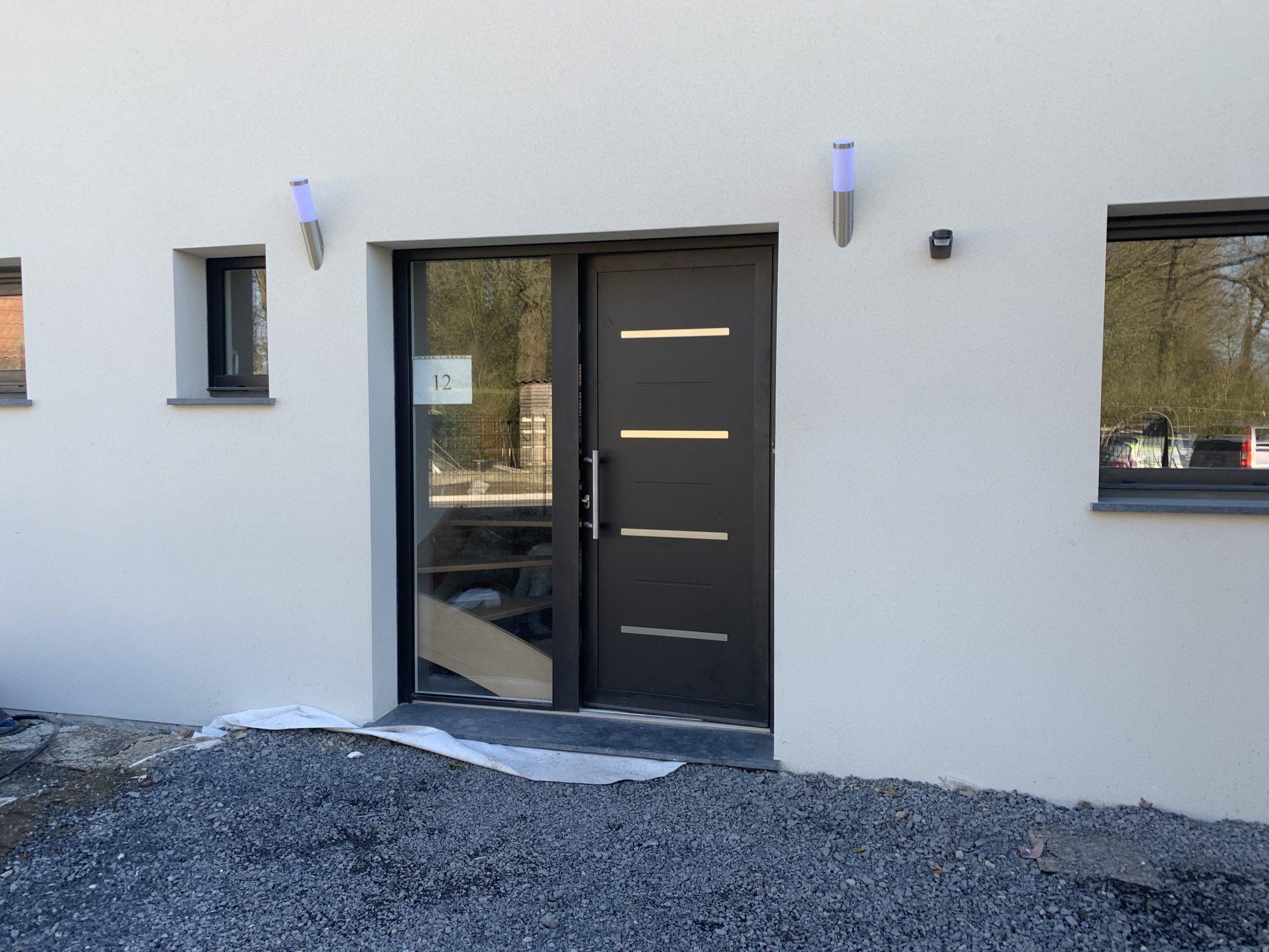 Porte d'entrée monobloc aluminium Terres de fenêtre