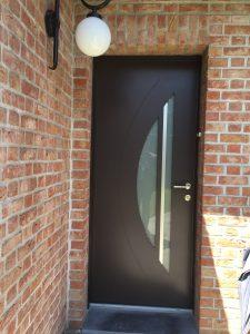 Porte entrée mixte bois-alu